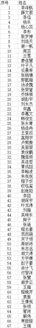 安徽李家军艺考训练营2019结业考试合格名单
